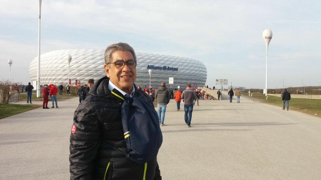 Cliente Turista FC na Allianz Arena