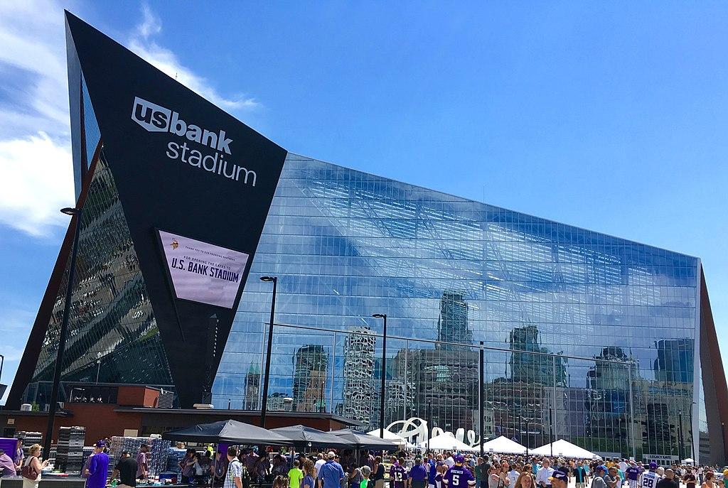 US Bank Stadium. Arenas incríveis do mundo esportivo.