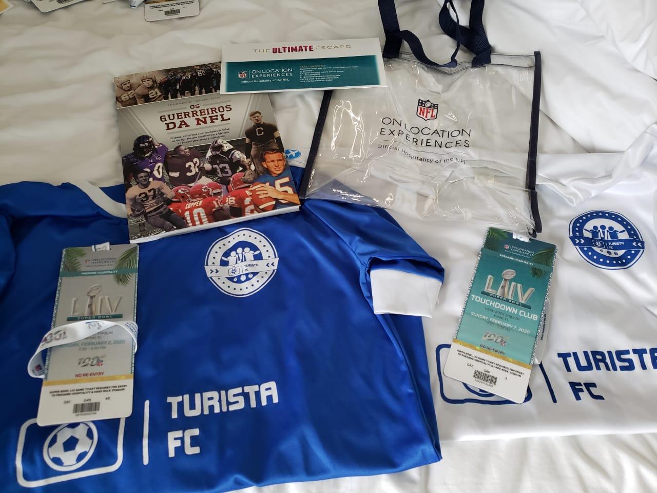 Camisas Turista FC e ingressos SB54