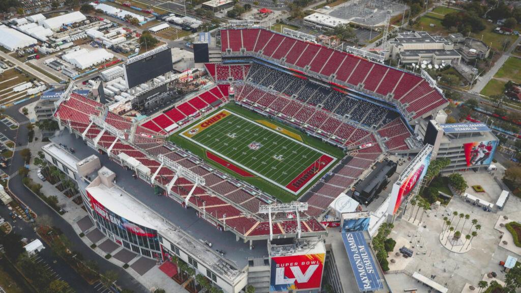 Arena que receberá o Super Bowl 55.